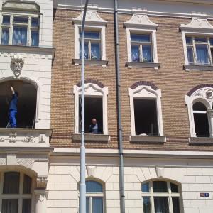 rekonstrukce fasády domu